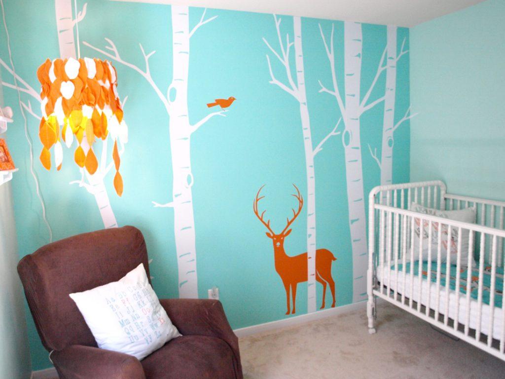 Camera nou-nascutului - fototapet feeric