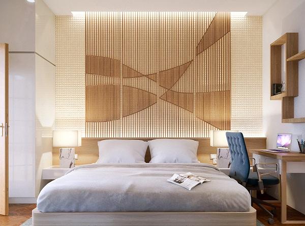 Peretele accent intr-un dormitor modern