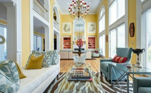 asiatischer-Stil-Wohnzimmer-Design