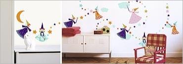 Sticker perete copii cu zane