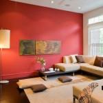 moderne-asiatische-Wohnzimmer-Einrichtung-rote-Wand